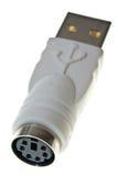 PS2 al adaptador del USB imagenes de archivo