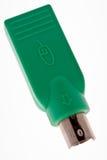 PS2 al adaptador del USB foto de archivo libre de regalías