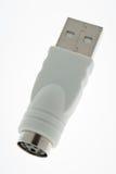 PS2 all'adattatore del USB immagine stock
