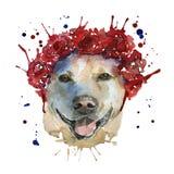 Psa kaganiec w pióropuszu zrobi w postaci wreat royalty ilustracja
