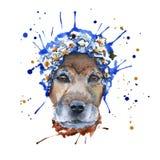 Psa kaganiec w pióropuszu zrobi w postaci wreat ilustracja wektor