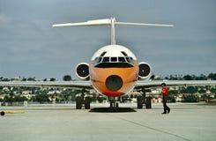 PSA Southwest Airlines pacífico MD-80 en San Diego listo para la salida fotografía de archivo libre de regalías