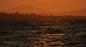 Psalidi Kos de la puesta del sol Fotos de archivo