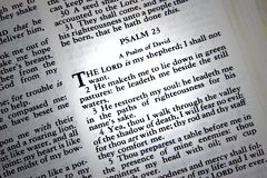 Psalm 23 Stock Image