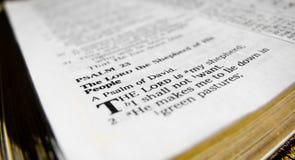 Psalm 23 stockbilder