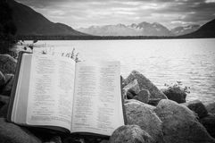 Psalm 23 w górach Zdjęcia Royalty Free