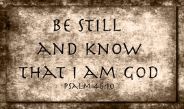 Psalm 46:10 Royalty Free Stock Images