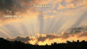 Psalm 143:8 Bible verse. Written with light