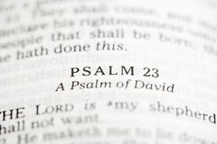 Psalm of David. Stock Photo