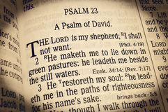 Psalm 23 - The Lord is my Shepherd royalty free stock image