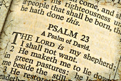 Psalm Twenty-Three stock photo