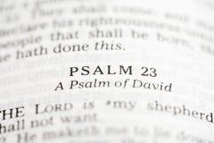 Psalm von David. stockfoto
