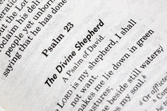 Psalme 23 Stockfotografie