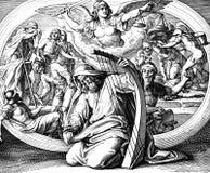 Psalmist Дэвид: Покаяние стоковая фотография