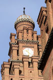 Psalmists school tower with clock, former archiepiscopal residence,Chernivtsi,Ukraine Stock Photography