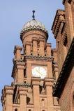 Psalmists school tower with clock, former archiepiscopal residence,Chernivtsi,Ukraine Stock Photography
