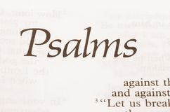 Psalms Royalty Free Stock Images