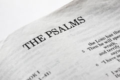 The Psalms stock images
