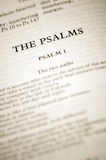 The psalms. Biblical scripture starting with the first chapter royalty free stock image
