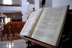 Psalms Book. Open psalms book in an orthodox church Royalty Free Stock Photography