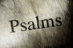 Psalmu teksta chodnikowiec Obrazy Royalty Free