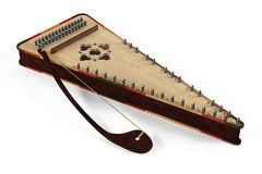 Psaltery gusli isolated Stock Photos