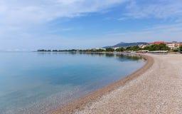 Psani beach in Nafpaktos, Greece Stock Photo