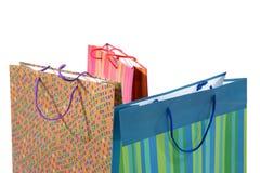 påsar isolerad shopping Royaltyfri Bild
