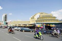 Psar thmei central market in phnom penh cambodia stock image
