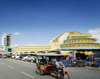 Psar thmei central market and street in phnom penh cambodia Stock Photos