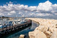 Psarolimanojachthaven, in Larnaca, Cyprus stock foto's