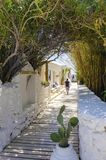 Psarou beach, Mykonos, Greece Stock Photos