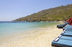 Psarou beach, Mykonos, Greece Royalty Free Stock Image
