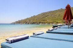 Psarou beach, Mykonos, Greece Royalty Free Stock Photography