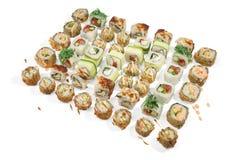 Psc del pavè 48 dei sushi Fotografie Stock Libere da Diritti