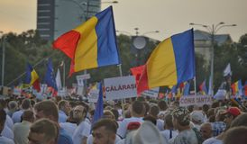 The PSD miting in Bucharest, hundreds of thousands of people in the street royalty free stock images