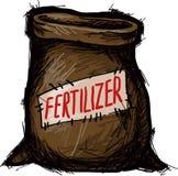 Påse av gödningsmedel Arkivfoto