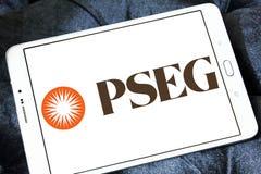 PSEG offentlig serviceföretagsgrupplogoen royaltyfri fotografi