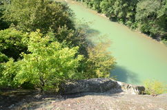 Psekups River on Kuban Russia. Picture taken from the rock of salvation in Kuban Royalty Free Stock Image