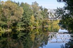 Psel河在秋天 免版税库存照片