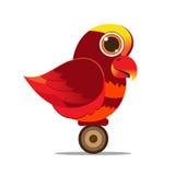 PseudeosFuscata鸟逗人喜爱的动画片摘要 免版税图库摄影