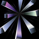 Pseudo 3d rays. Abstract background with pseudo 3d rays Royalty Free Stock Image