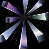 Pseudo 3d rays. Royalty Free Stock Image
