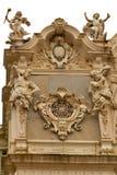 Pseudo-baroque Colonnade, spa Marianske Lazne stock images