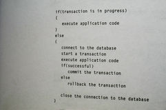 Pseudo-Code lizenzfreie stockfotos