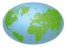 Pseudo Earth that contains the whole world map, image illustration Stock Photo