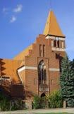 Pseudo-gotische parochiekerk Royalty-vrije Stock Afbeeldingen