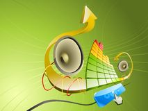 Pseudo ilustración 3D de la música Imagenes de archivo