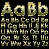 Pseudo letras 3d del alfabeto Imagen de archivo libre de regalías