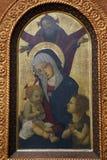 Pseudo-Pier Francesco Fiorentino: Gott der Vater segnet die Jungfrau und das Kind mit Johannes stockbild